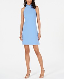 Vince Camuto Ruffle-Neck Shift Dress