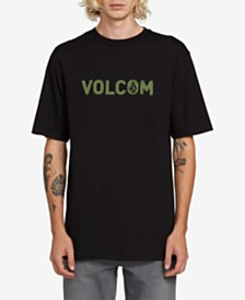 Volcom Men's Cement Logo Graphic T-Shirt