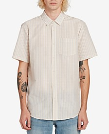 Men's Striped Short Sleeve Woven Shirt