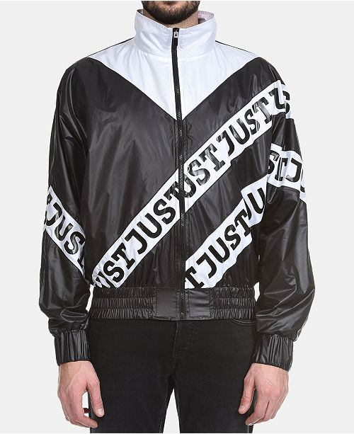 Just Cavalli Men's Colorblocked Logo Bomber Jacket