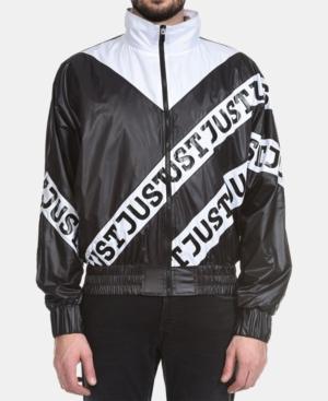 Just Cavalli Men's Colorblocked Logo Bomber Jacket In Black