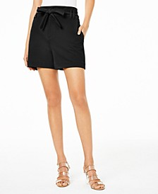 Paperbag-Waist Shorts, Created for Macy's