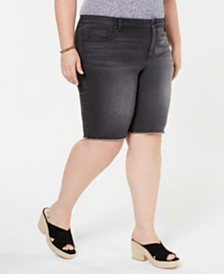 Style & Co Plus Size Cut Off Bermuda Shorts, Created for Macy's