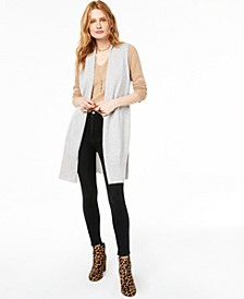Ribbed Cashmere Duster Vest, Created for Macy's