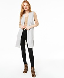 Charter Club Ribbed Cashmere Duster Vest, Created for Macy's