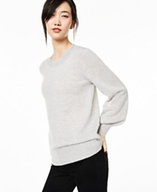 Charter Club Cashmere Blouson-Sleeve Sweater, Created for Macy's