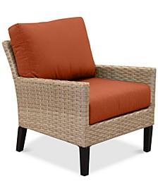 Amari Parchment Outdoor Club Chair With Sunbrella® Cushions