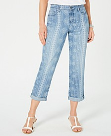 Printed Cuffed-Hem Jeans, Created for Macy's
