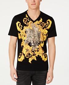 I.N.C. Men's Baroque Foil Leopard T-Shirt, Created for Macy's