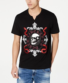 I.N.C. Men's Skull & Snakes Graphic T-Shirt, Created for Macy's