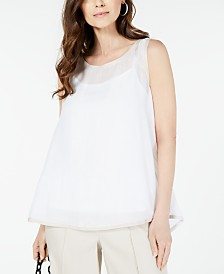 Alfani Piped Sleeveless Top, Created for Macy's