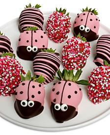 12-Pc. Ladybug Chocolate-Covered Strawberries