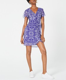 Nanette Lepore Printed Ruffled Dress