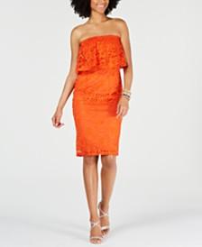 Thalia Sodi Strapless Lace Dress, Created for Macy's