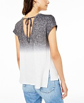 dbf2e510 Bar III Ombré Tie-Back Top, Created for Macy's