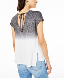 Bar III Ombré Tie-Back Top, Created for Macy's