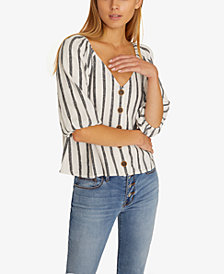 Sanctuary Modern Summer Striped Shirt