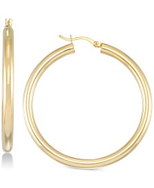 Simone I. Smith Polished Hoop Earrings in 18k Gold over Sterling Silver