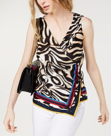 INC Petite Wrap Top, Created for Macy's