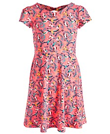 Epic Threads Big Girls Birds-Print Bow-Back Dress, Created for Macy's
