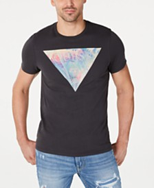 GUESS Men's Multicolor Logo Graphic T-Shirt