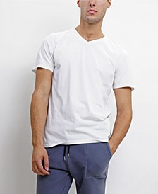 TMV002CJ Mens Cotton Jersey Short-Sleeve V-Neck T-Shirt