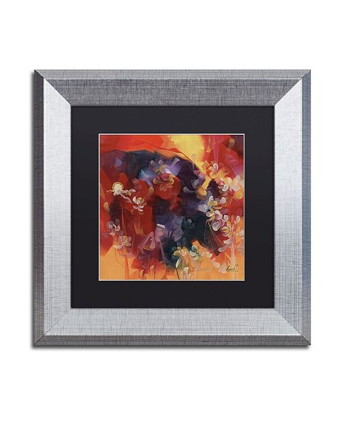 "Trademark Global Masters Fine Art 'Hot Nights' Matted Framed Art - 11"" x 11"""