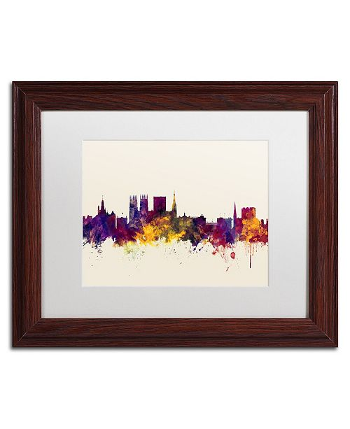 "Trademark Global Michael Tompsett 'York England Skyline' Matted Framed Art - 11"" x 14"""