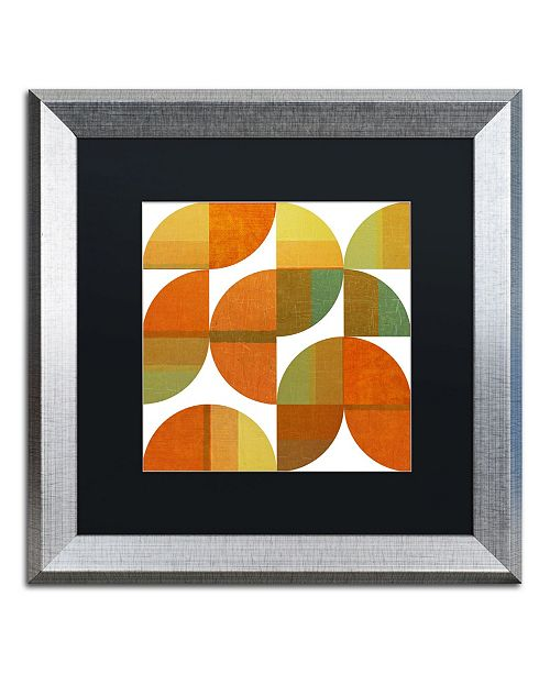 "Trademark Global Michelle Calkins 'Four Suns Quartered 1.0' Matted Framed Art - 16"" x 16"""
