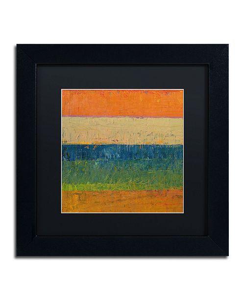 """Trademark Global Michelle Calkins 'Lavender Line' Matted Framed Art - 11"""" x 11"""""""