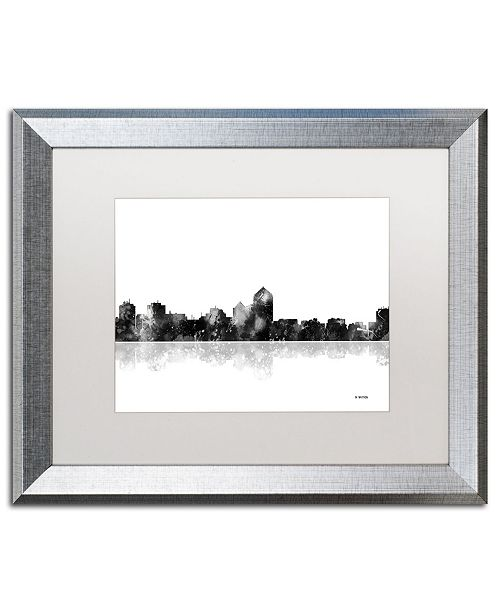 "Trademark Global Marlene Watson 'Albuquerque New Mexico Skyline BG-1' Matted Framed Art - 16"" x 20"""