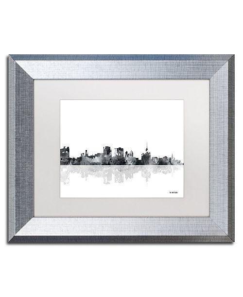 "Trademark Global Marlene Watson 'Buffalo New York Skyline BG-1' Matted Framed Art - 11"" x 14"""