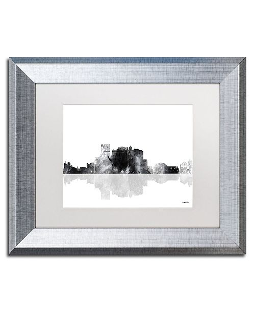 "Trademark Global Marlene Watson 'El Paso Mexico Skyline BG-1' Matted Framed Art - 11"" x 14"""