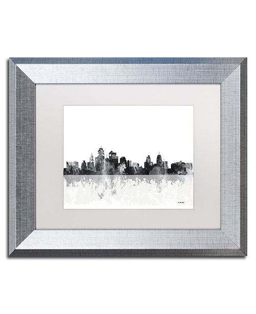 "Trademark Global Marlene Watson 'Kansas City Missouri Skyline' Matted Framed Art - 11"" x 14"""