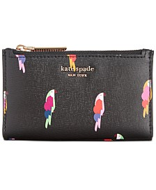 kate spade new york Sylvia Flock Party Small Slim Bifold Wallet