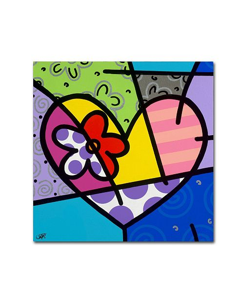 """Trademark Global Roberto Rafael 'Big Heart III' Canvas Art - 14"""" x 14"""""""