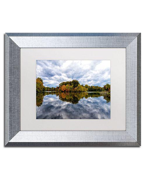 """Trademark Global PIPA Fine Art 'Autumn Reflections' Matted Framed Art - 11"""" x 14"""""""
