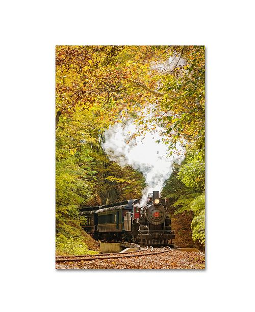 "Trademark Global PIPA Fine Art 'Steam Train with Autumn Foliage' Canvas Art - 12"" x 19"""