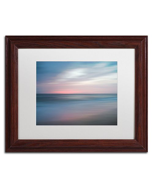 """Trademark Global PIPA Fine Art 'The Colors of Evening on the Beach' Matted Framed Art - 11"""" x 14"""""""