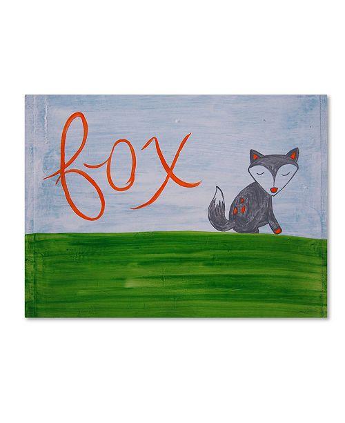 "Trademark Global Nicole Dietz 'Fox Sky' Canvas Art - 14"" x 19"""