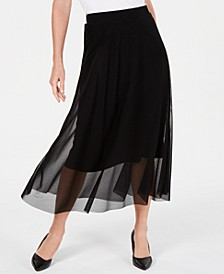 Petite Mesh Midi Skirt, Created For Macy's