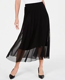 Alfani Petite Mesh Midi Skirt, Created For Macy's