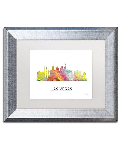 "Trademark Global Marlene Watson 'Las Vegas Nevada Skyline 2 WB-1' Matted Framed Art - 11"" x 14"""