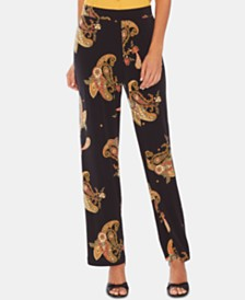 Vince Camuto Paisley-Print Pull-On Pants