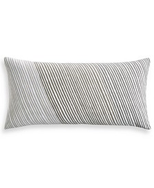 "Diagonal Stripe 12"" x 24"" Decorative Pillow, Created for Macy's"