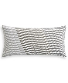 "Charter Club Damask Designs Diagonal Stripe 12"" x 24"" Decorative Pillow, Created for Macy's"