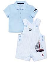 47019fa1f Little Me Baby Boys 2-Pc. Cotton Polo Shirt & Shortall Set