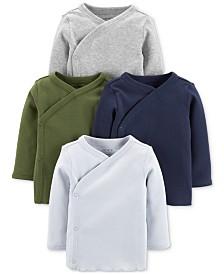 Carter's Baby Boys 4-Pk. Cotton Long-Sleeve Kimono T-Shirts