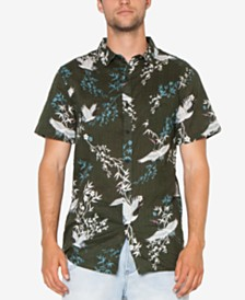 Zeegeewhy Men's Crane Graphic Party Shirt