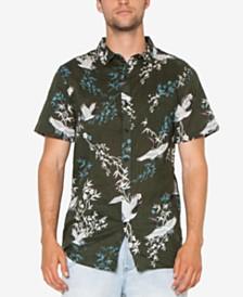 Zeegeewhy Men's Crane Graphic Party Shirt